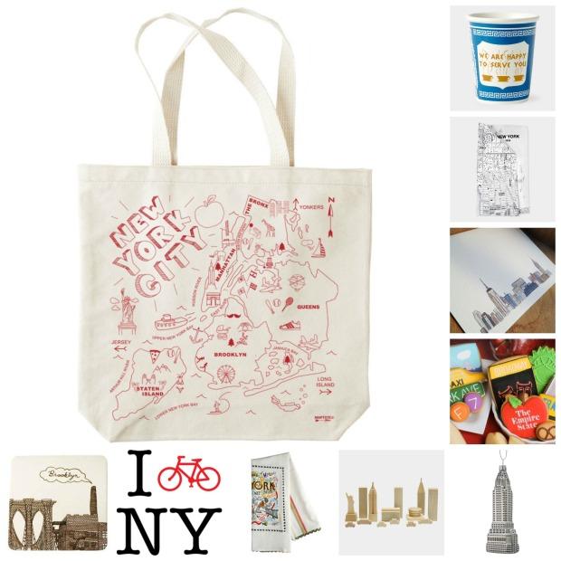 NY souvenir collage