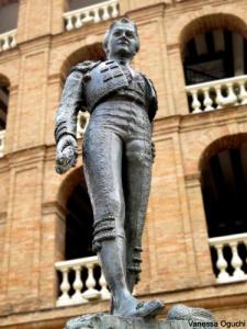 bullfighter statue