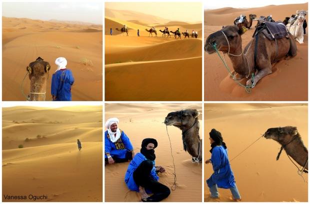 The Berber guides leading us through the desert