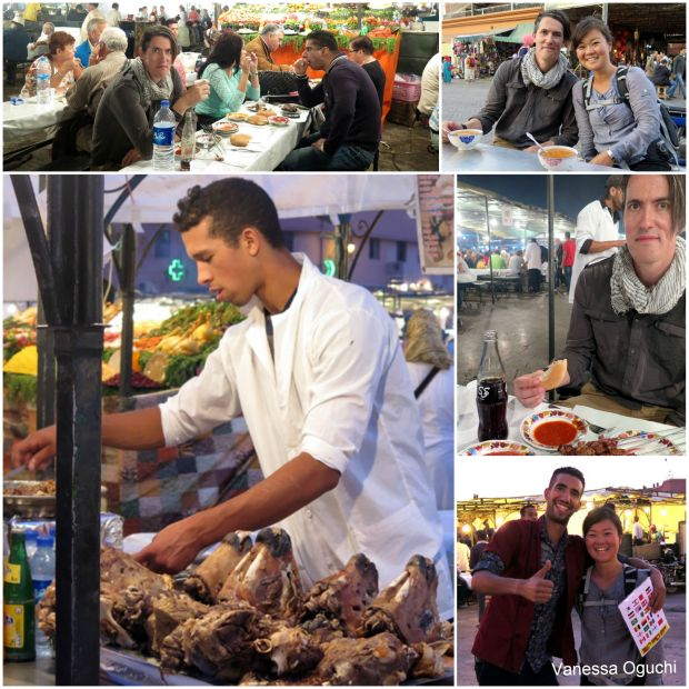 Eats in the famous square in Marrakech!