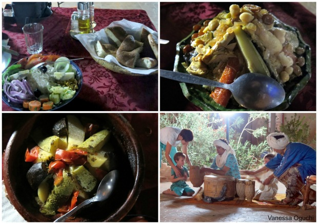 merzouga dinner Collage
