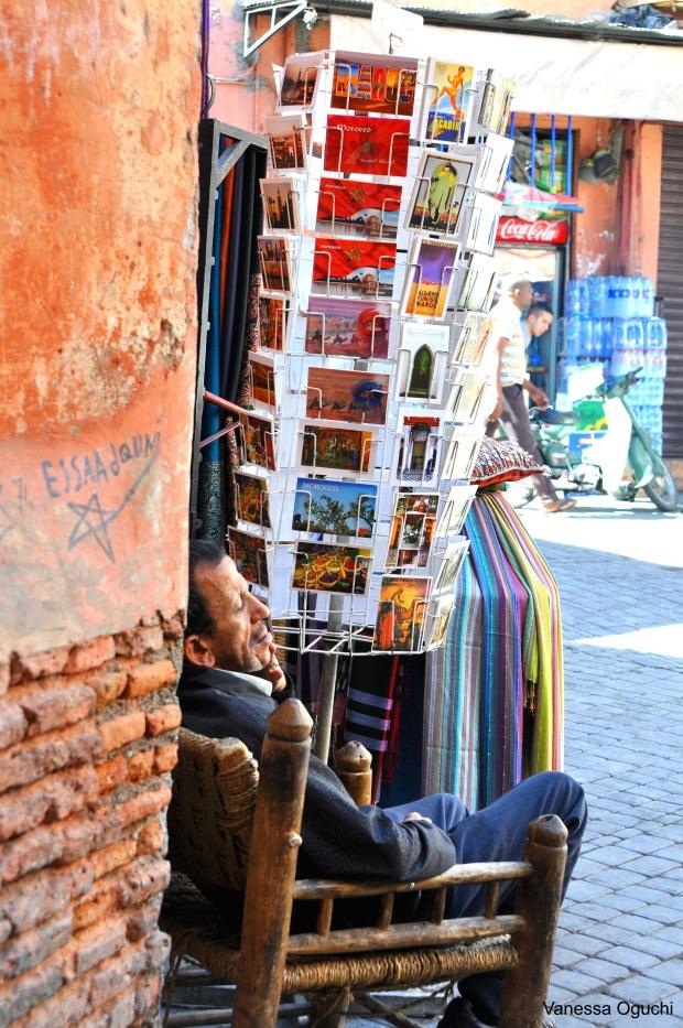 Postcard vendor