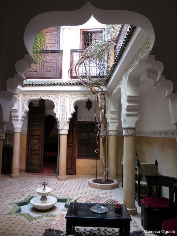 Gorgeous open air court yard at Riad Al Jawhara