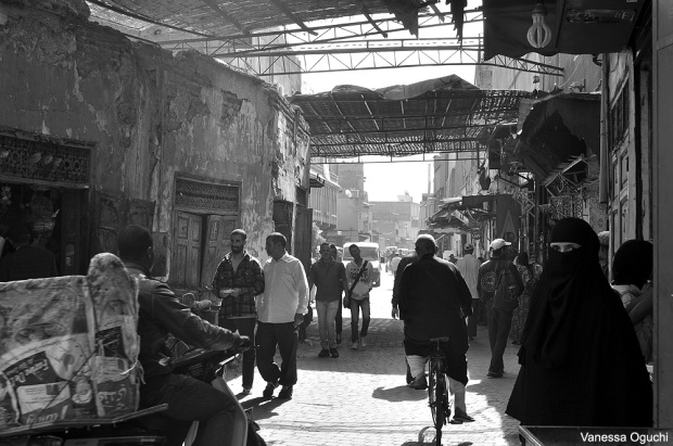 Street scene in Marrakech