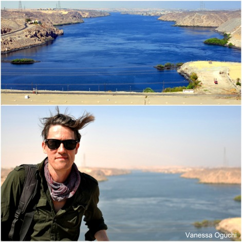 Greg at the Aswan High Dam overlooking Nasser Lake