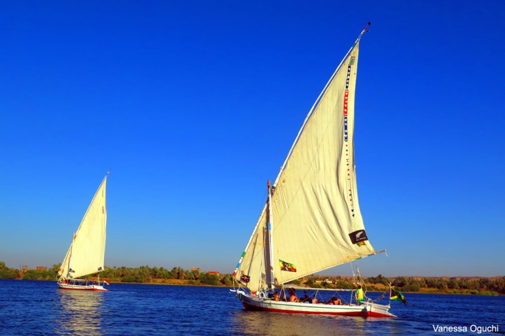 We only saw a couple of boats on the Nile.  Here are two of them.
