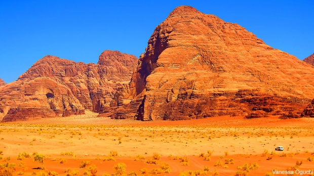 Out of this world landscape at Wadi Rum