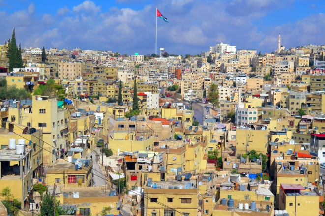 View of hilly Amman, Jordan
