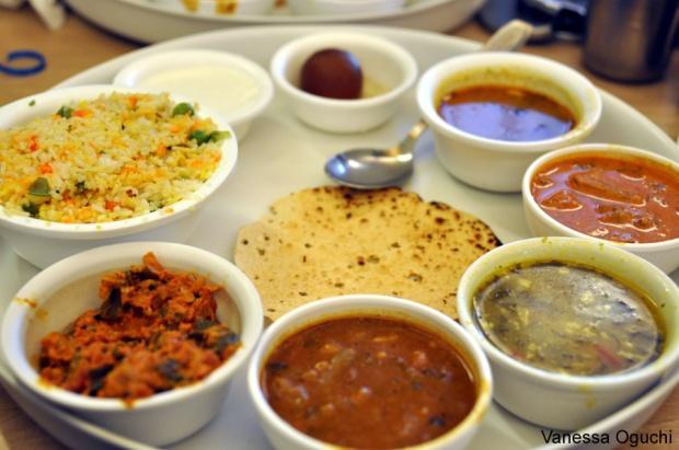 A tasty vegetarian thali