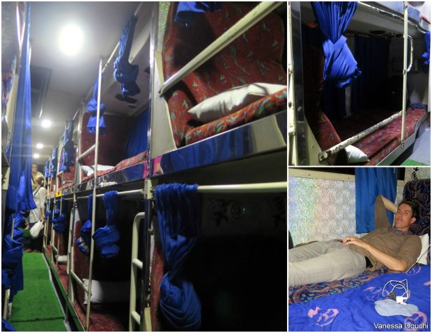 Goa overnight bus: Bouncy but you can stretch out!