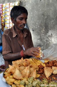Officially the best street food I ate during my two months in India. Vada Pav!