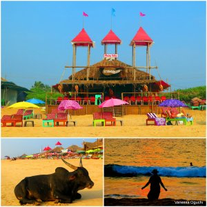 Beach scenes in Goa
