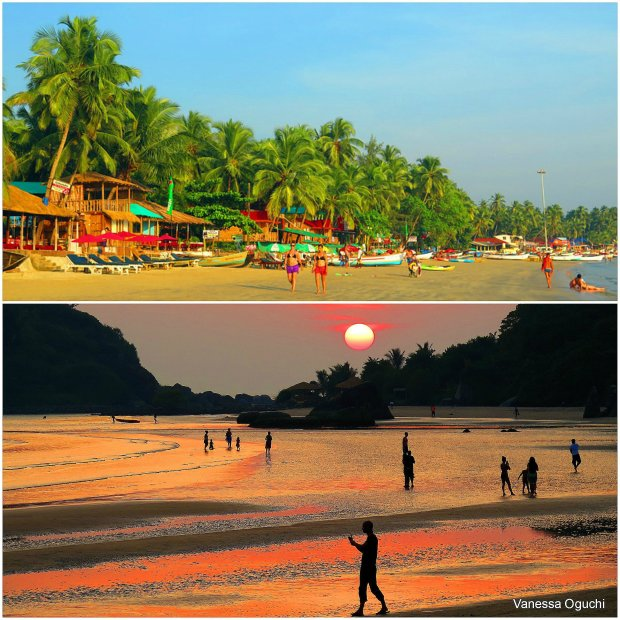 Palolem by day and during sunset