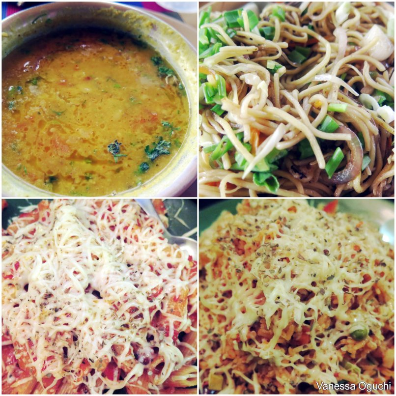 Dhal fry and veg noodle, and pasta and risotto at Yangkhor Moonlight