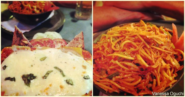 Once Upon a Time Restaurant: Lasagna and Singapore Noodles