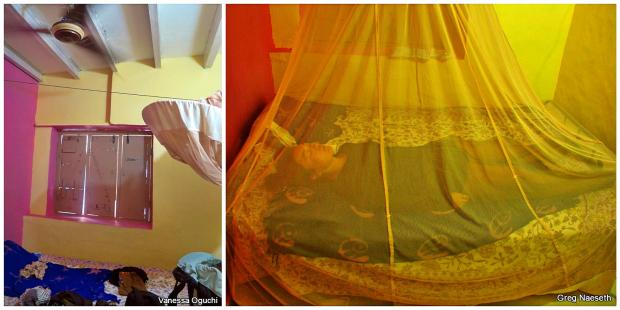 Rash Central: Sunny Guesthouse and a weird photo of me sleeping in the mosquito net. PROTECTION.