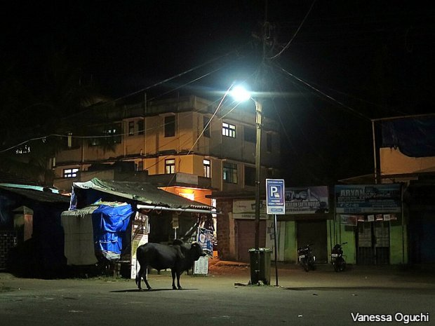 Waiting for our overnight bus from Palolem to Hampi.