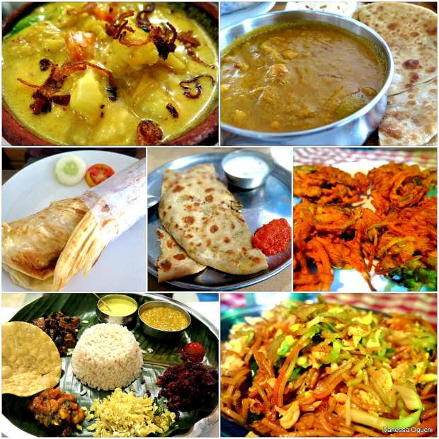 Kochi food from top left to right: