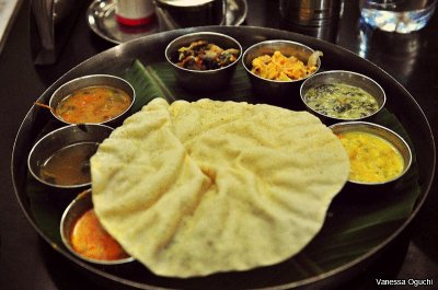 The delicious thali served at Arthy Restaurant